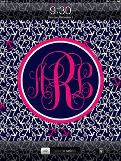Lilly Pulitzer Inspired Personalized Monogram iPad by nreese47, $4.00