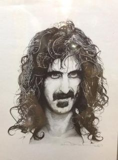 """Frank Zappa - Zappa Art Print  Designed by David Drennon and printed on Bristol paper poster stock, this is a fan inspired art poster print pays tribute to the late Frank Zappa. Measures approx. 17"""" x 23"""" and is signed by the poster artist. #sunshinedaydream #hippieshop"""