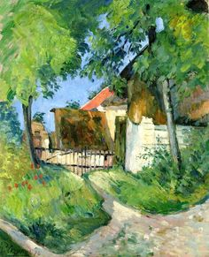 Entrance to the Farm, Rue Remy in Auvers-sur-Oise / Paul Cezanne - 1873