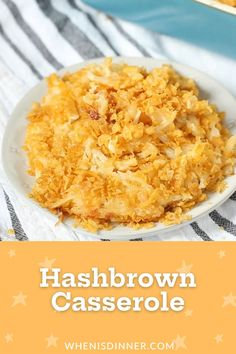 This Hashbrown Casserole Recipe is the perfect side dish that will complement many dinner dishes, and is a MUST HAVE for Easter dinner.