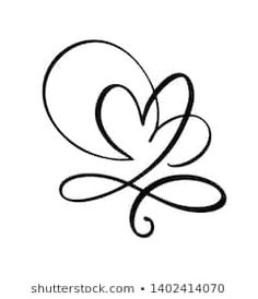 Hand drawn two Heart love sign. Romantic calligraphy vector of valentine day. Concepn icon symbol for t-shirt, greeting card, poster wedding. Infinity Tattoo Designs, Infinity Tattoos, Bullet Journal Icons, Sunflower Template, Draw Two, Ink Addiction, Love Signs, Bullet Journal Inspiration, Tatoos