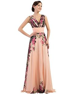 Floral Print Long Evening Gowns Deep V-neck Size 2 CL7502 GRACE KARIN Prom Dresses http://smile.amazon.com/dp/B00WNUWKD0/ref=cm_sw_r_pi_dp_R3Chwb0PVR8ZX