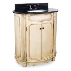 Have to have it. Bath Elements 30.5-in. Tesla Buttercream Single Bathroom Vanity with Optional Mirror $432