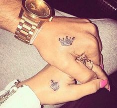 Couple tattoo crowns