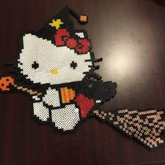 Hello Kitty halloween perler beads by mikesol314