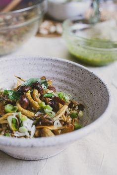 Mushroom + Pistachio Pesto Farro