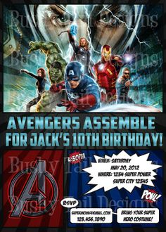 Awesome! The Avengers Birthday Invitation!
