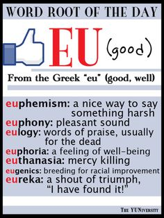 The YUNiversity; Root word of the day; informative & entertaining