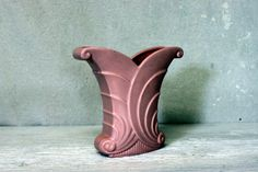 abingdon art pottery vase flared fan and scroll  by umbrellafant, $24.00