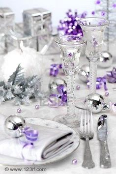 Gypsy Purple: Christmas Find: Inspiring Christmas tables......