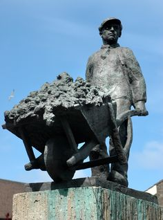 De Pionier (kunstenaar M. Grobius) Delft, Windmill, Countryside, Sculptures, Holland, Sculpture