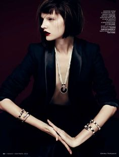 Neoteric Victorian Vestures : Russian Vogue December 2012