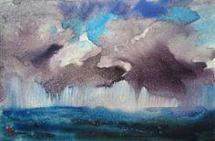 Shower Sizes, Sea Storm, Frame It, Contemporary Paintings, Watercolour Painting, Original Artwork, The Originals, Artist, Handmade