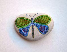 Libélula de piedra pintada a mano / Sasso Dipinto una mano - Libellula