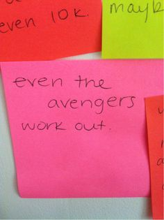 motivational Avengers post-it