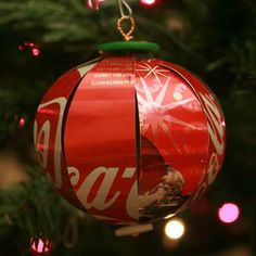 soda can ornaments/art club