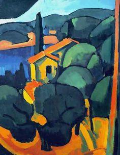 André Derain >> Cassis  |  (Oil, artwork, reproduction, copy, painting).