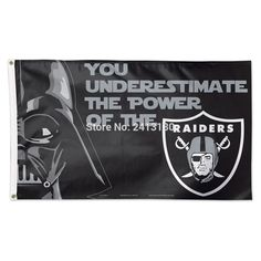 Oakland Raiders Star Wars Large Outdoor Banner Flag 3X5