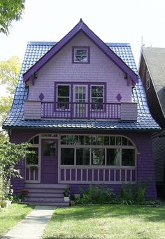 cute purple house