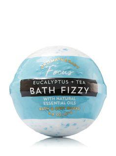 Aromatherapy - Eucalyptus Tea Bath Fizzy by Bath & Body Works Bath N Body Works, Body Wash, Bath Fizzies, Bath Salts, Eucalyptus Tea, Beauty Kit, Beauty Products, Lip Scrub Homemade, Best Lotion