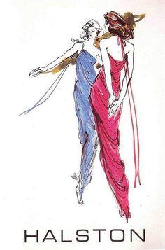Halston Illustration