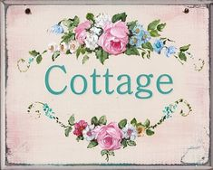 .Sweet Cottage Sign via gailmccormack.com