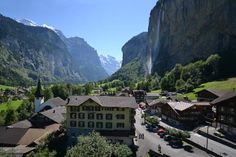 Mom, dad and I stayed here in 1991-ish? Best view in my entire life!  Hotel Staubbach, Lauterbrunnen, Switzerland