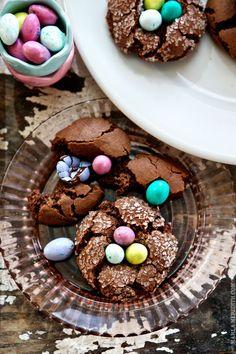 EASTER Chocolate Nest Crinkle Cookies   FamilyFreshCooking.com #glutenfree