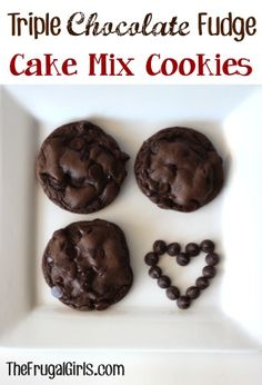 Chocolate Fudge Cake Mix Cookies Recipe ~ Great for Bake Sales and a fast easy recipe!!