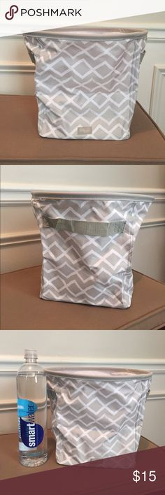 "NEW Thirty One Mini Storage Bin This listing is for one, but I have 2 available! Only removed from packaging for photos. Pattern is Dancing Diamond which is tan and white.  Mini size, maximum function! Catch loose items in every room of the house (or car) with this sturdy bin featuring side handles for easy transport. Use it to organize mail, video games, your office and so much more! Dimensions: 10""H x 8 7/8""L x 8 7/8""D. Smoke free, pet free home. Thirty One Bags Totes"