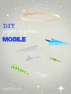 DIY Paper Airplane Nursery Mobile Tutorial