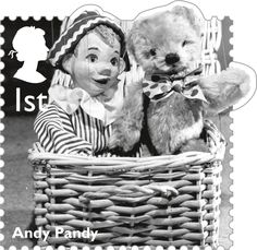Classic Children's TV 1st Stamp (2014) Andy Pandy