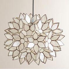 DIY Faux Capiz Shell Flower Pendant Light - Addicted 2 Decorating®