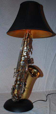 Saxophone Lamp    ~guitarlamp.com