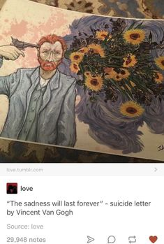 """""""The sadness will last forever"""" - suicide letter by Vincent Van Gogh notes - iFunny :) Pixiv Fantasia, Art Hoe, Wow Art, Illustrations, Vincent Van Gogh, Les Oeuvres, Art Inspo, Art Reference, Amazing Art"""