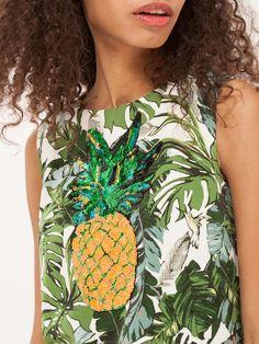 #summer #green #fashion #trend #denim #tshirt #jeans #style #fashionlook #ananas