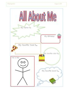 all about me theme for preschoolers   http://www.preschool-plan-it.com/all-about-me-preschool-activities ...