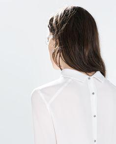 ZARA - DONNA - CAMICIA COLLO ALTO Zara United Kingdom, Zara United States, High Neck Blouse, Zara Women, Viera, Image, Fashion, Fabrics, Man Women