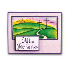 Easter Calvary Crosses Card