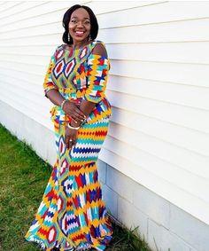 Kente Wedding Dress Styles of 2019 Latest African Fashion Dresses, African Print Dresses, African Dress, African Prints, African Wedding Dress, Wedding Dress Styles, African Attire, African Wear, African Outfits