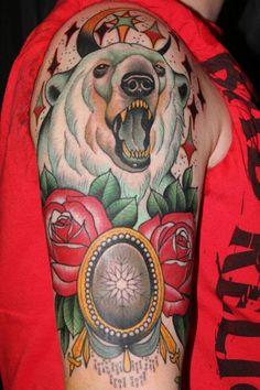 cool polar bear tattoo