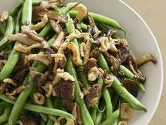 Healthy And Delicious Sautéed Green Beans And Mushrooms! Add Your Favorite Meat!