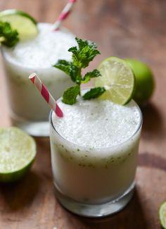 frosty coconut mojitos