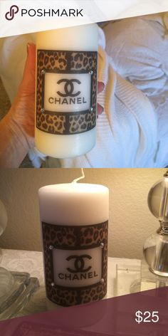 Chanel inspired candle designer candle Fun animal print Chanel candle  Other