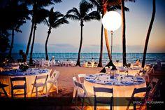 Key West Florida Destination Wedding Location Beach Reception With Lanterns Love The Lit Up Tables