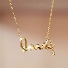 Valentines gift idea? This gold Love Necklace is simply perfect! Get this for your girlfriend, friend, grandmother, mother and really anybody you hold dear to your heart! This gold pendant necklace is perfect for Valentines, anniversary, birthdays, and really any holidays or occasions.
