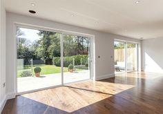 Floor to ceiling sliding doors