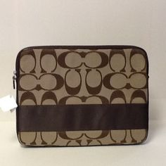 Just SOLD on Poshmark! Coach computer sleeve NWT.