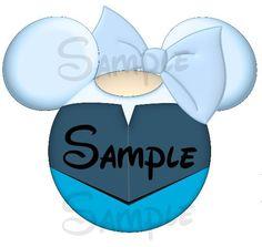 Ariel blue dress (Little Mermaid) Character inspired Mickey head DIGITAL printable file DIY on Etsy, $3.00