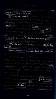 Endless Horizons - By Kevin Harrell  Blackout Poem out of The Alchemist by Paul Coelho